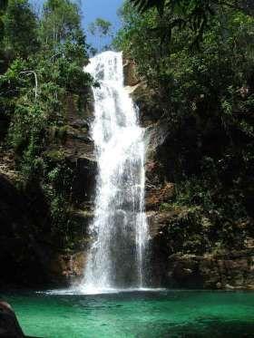 Santa Bárbara (Cavalcante, Goiás) - Para muitos, é a cachoeira mais bela do Brasil. Localizada no co... - Creative Commons/reservarenascer/Flickr