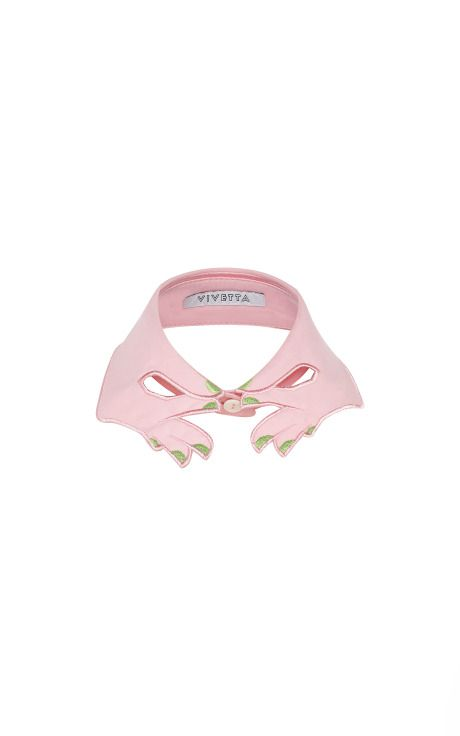 Pink Hands Collar With Green Nails by Vivetta - Moda Operandi