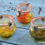 Citromolaj, rozmaringolaj, fokhagymás chiliolaj és citromolajos saláta