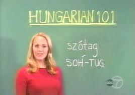 Hongaars leren? succes! het is een erg moeilijke taal :)