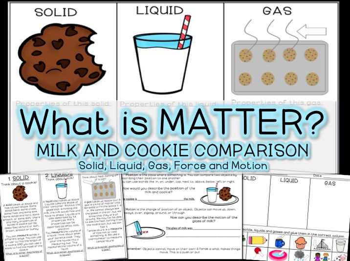 What is Matter? Teach your students the concept of matter with cookies and milk! Countless Smart Cookies on TPT