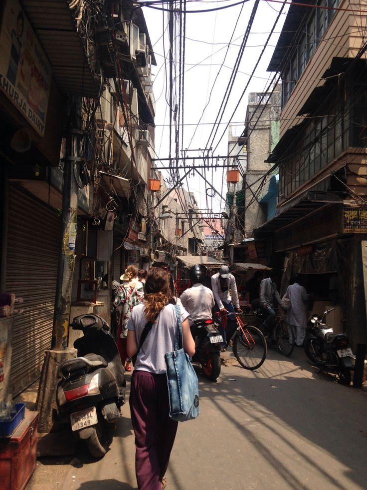 Wandering through laneways in Old Delhi