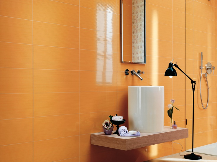 Orange ceramic wall tile - Gioia by Atlas Concorde