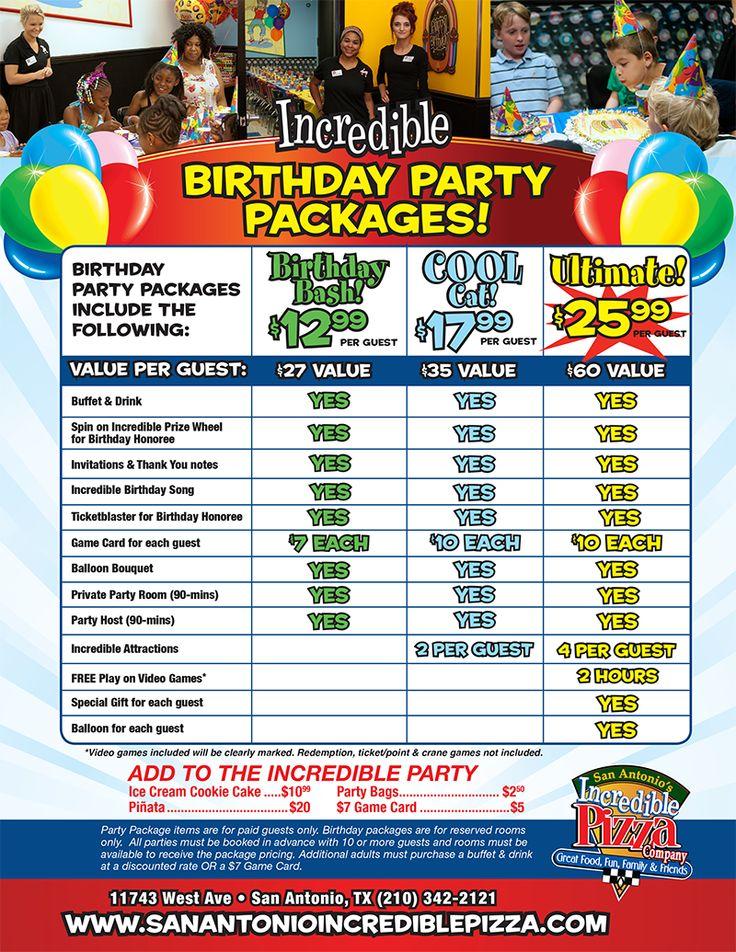 Kids Birthday Party Packages San Antonio, TX Incredible