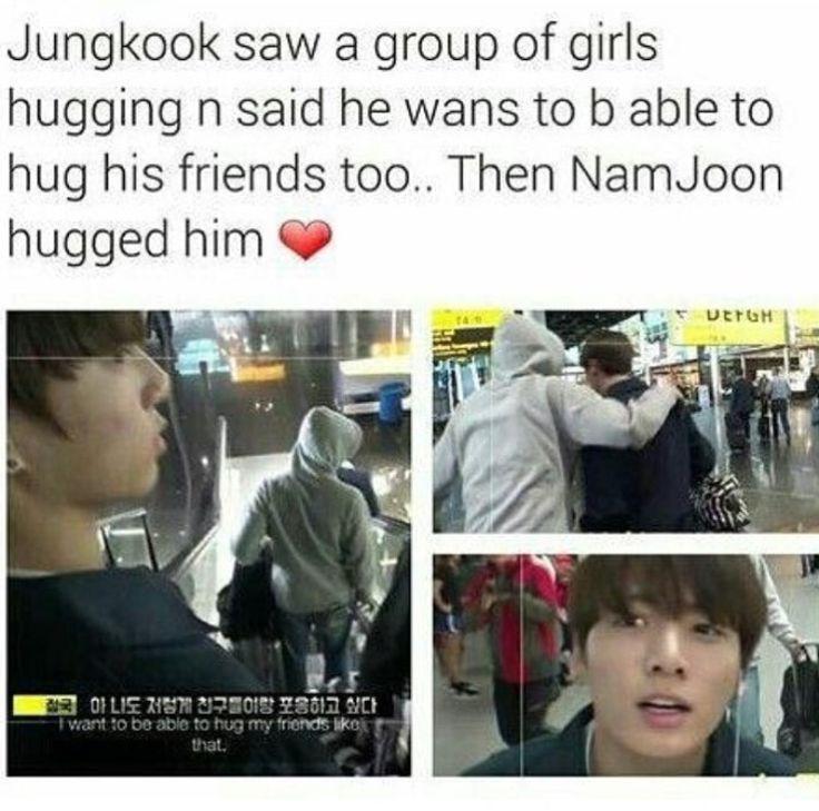 LET'S BE FRIENDS JUNGKOOK I'LL HUG YOU JUST LIKE NAMJOON ...