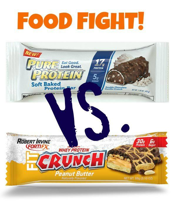 Food fight! We're pitting Pure Protein's Soft Baked Bars vs. Robert Irvine's Fit Crunch Baked Bars.