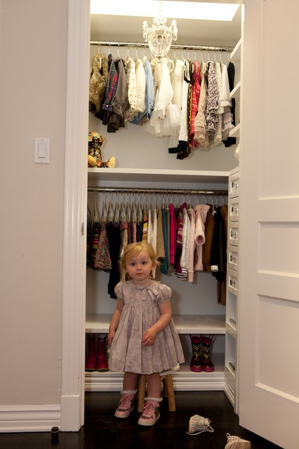 The Girl's White Closet - modern - closet - los angeles - Lisa Adams, LA Closet Design