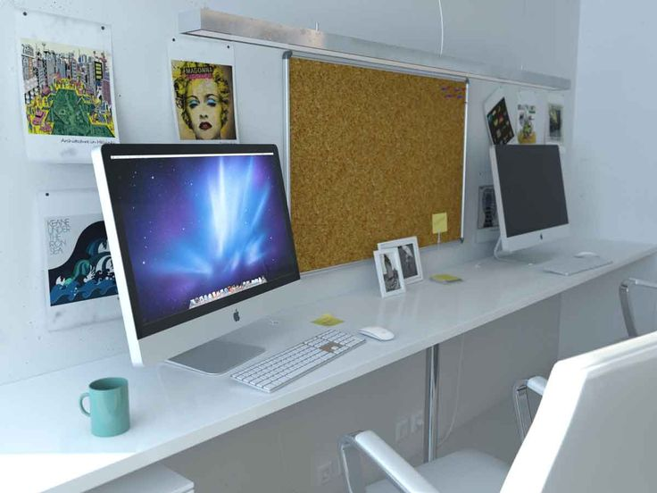 Home Interior, Increase Your Working Productivity Through Creative Office  Home: Modern Small Office Home