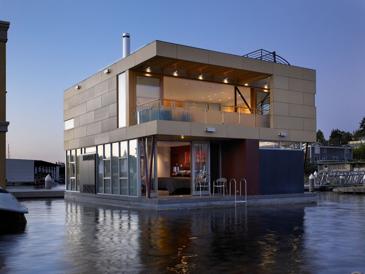 Beautiful Floating Home In Seattle By Vandeventer + Carlander Architects  Lake Union Floating Home By Vandeventer + Carlander Architects U2013 HomeDSGN,  ...