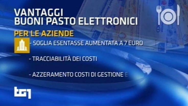 Tg1 Economia - Defiscalizzazione buoni pasto elettronici - intervista a Gregorio Fogliani