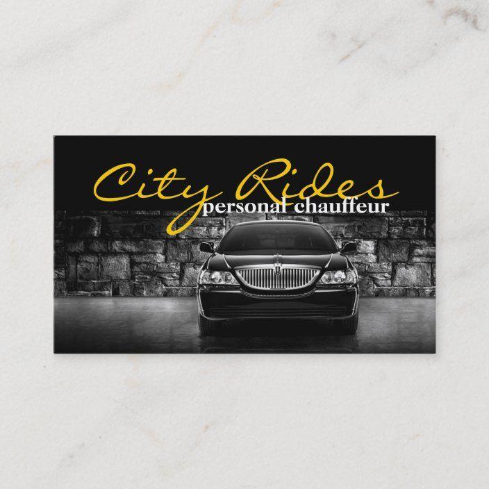 Elegant Dark Taxi Driver Chauffeur Business Card Zazzle Com Taxi Driver Chauffeur Taxi