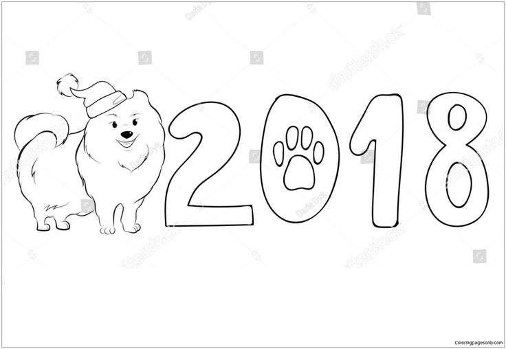 pomeranian coloring pages free - photo#21