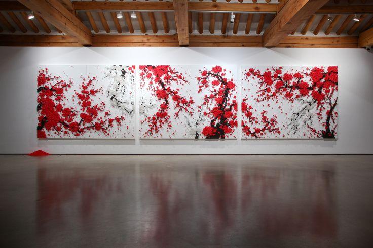 Kunst aus Tausenden Reißzwecken