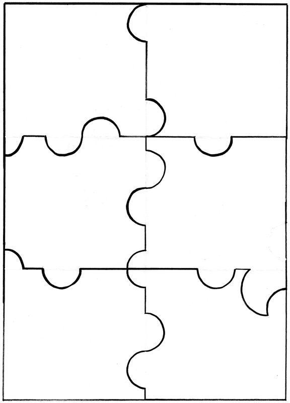 Puzzle 6 ou 12 pièces à imprimer au dos de l'image de votre choix