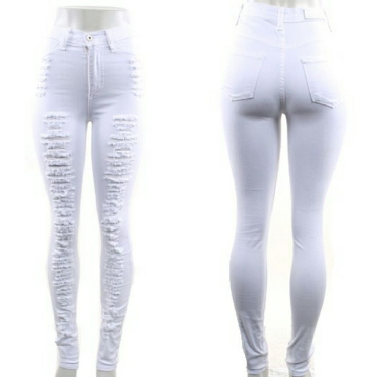 Very Sexy White High Waisted Jeans
