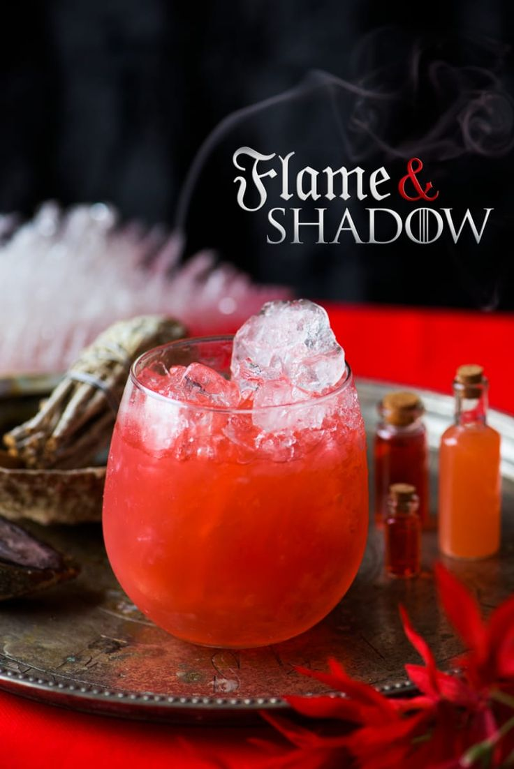 You may have been following the wrong Promised One around for the past few seasons — *awkward* — but you won't make that mistake again with this spicy and smoky drink that will have you praising R'hllor. If age has taught you anything, it's that the night is dark and full of cocktails.