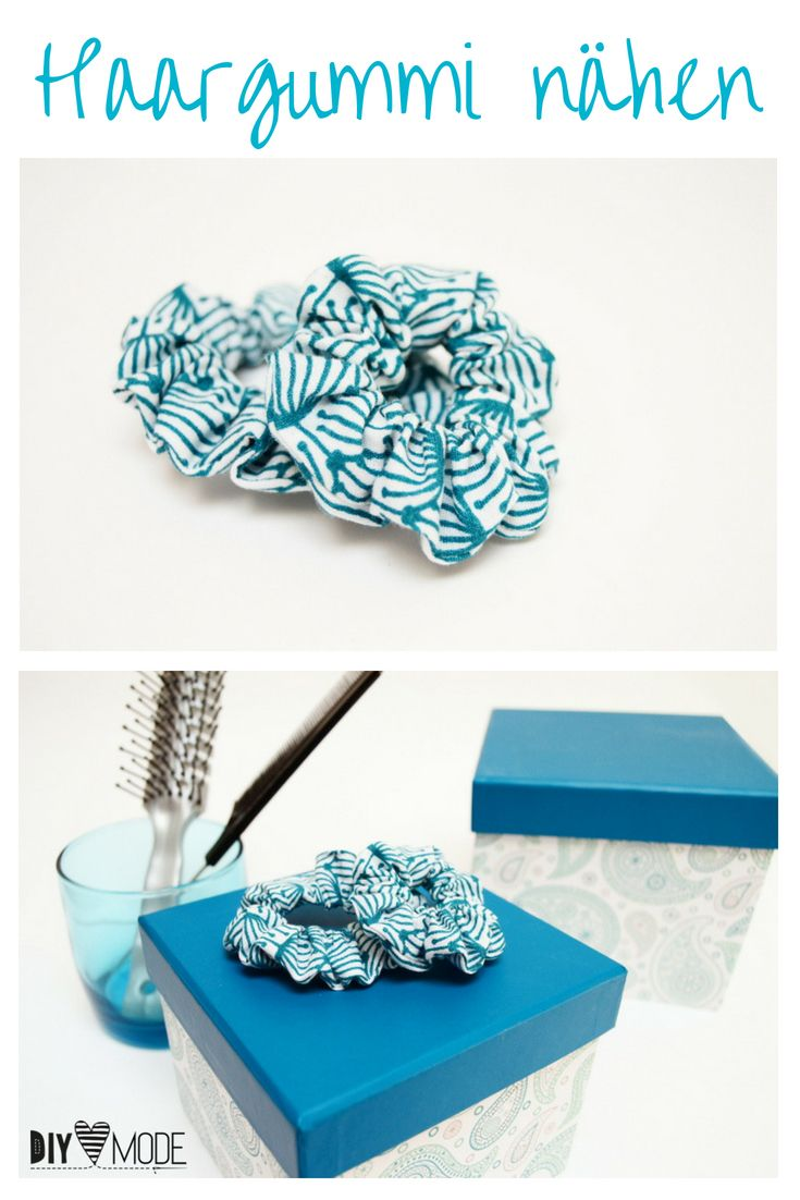 Haargummi selber machen – DIY MODE / Sewing Upcycling & DIY Fashion