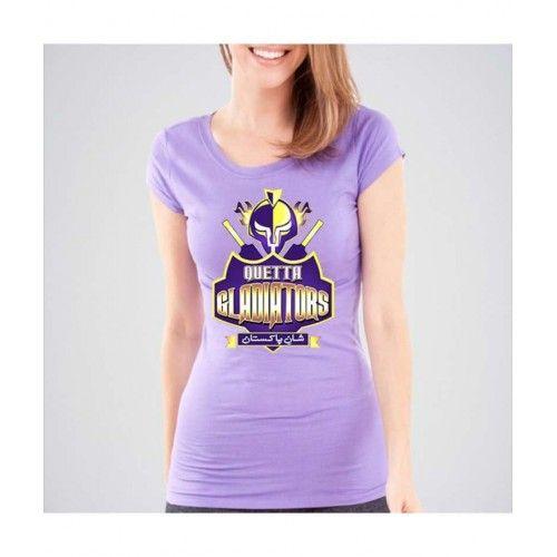 Quetta Gladiators PSL League Cotton T-shirt. PSL-01 Sale in pakistan