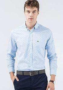 Lacoste Mavi Uzun Kollu Gömlek