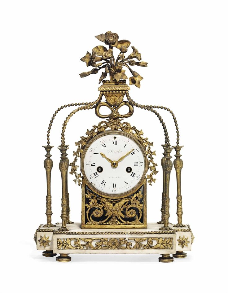 A LOUIS XVI ORMOLU AND WHITE MARBLE STRIKING MANTEL CLOCK DAUTEL, PARIS, LATE 18TH CENTURY