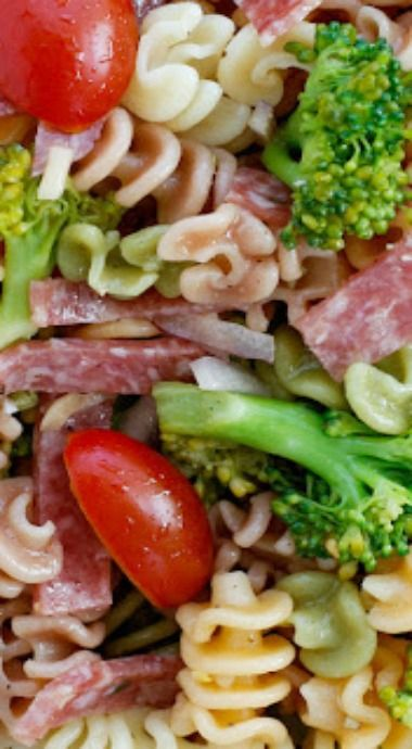 Broccoli and Salami Pasta Salad