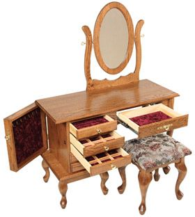 Perfect Amish Outlet Store : Queen Anne Jewelry Dressing Table In Oak. Find This  Pin And More On Amish Furniture Portland Oregon ...