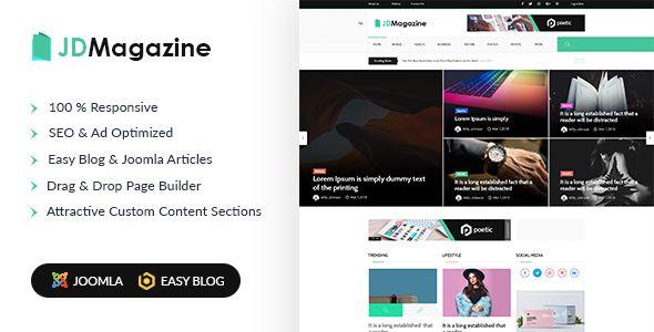 Jd Magazine Best Blog Joomla 3 9 Template In 2020 Joomla Templates Joomla Templates Free Download