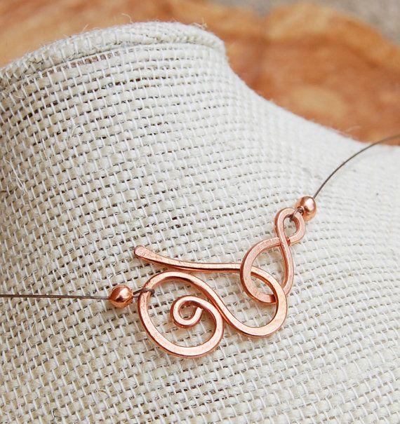 Minimalist Copper Coin Pearl Drop Necklace by Karismabykarajewelry