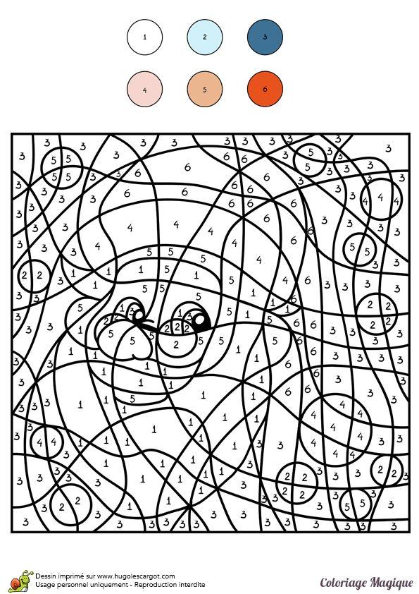 Coloriage magique niveau cm1 d un portrait de p re no l - Dessin d un pere noel ...