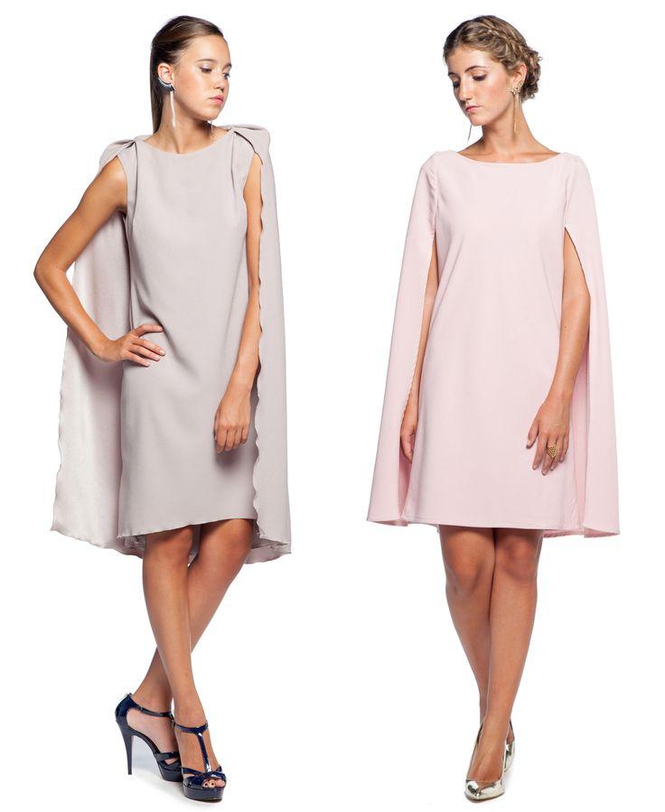 vestido con capa  para una invitada perfecta. Alquilalos en www.lamasmona.com