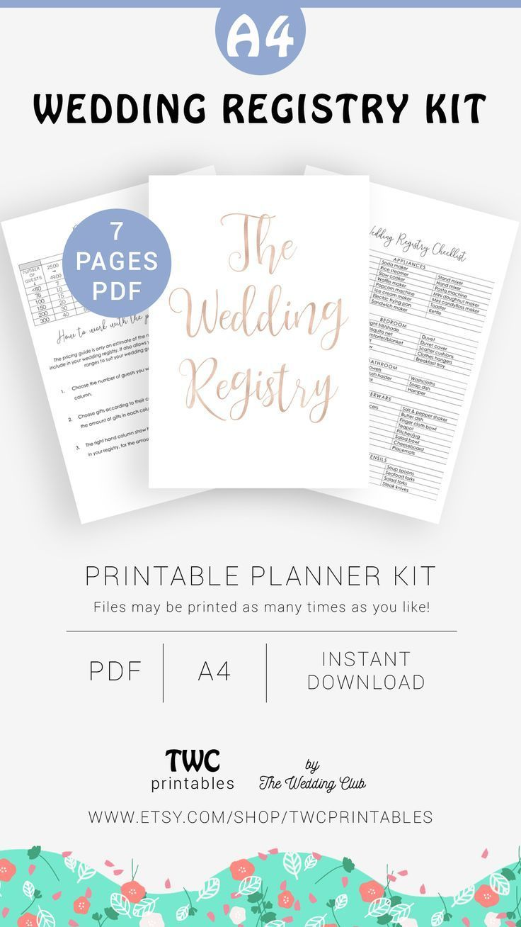 Plan Out Your Wedding Gift Registry With This Wedding Printable It Includes Wedding Gift Ideas Wedding R In 2020 Wedding Registry Wedding Gift Registry Wedding Gifts
