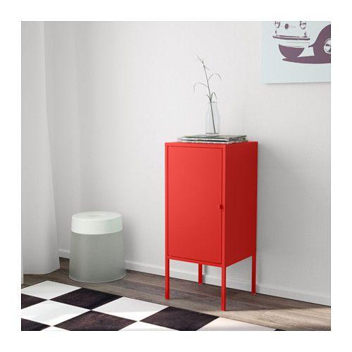 LIXHULT Skåp, metall, röd metall/röd 35x60 cm