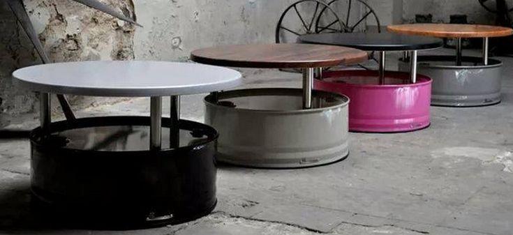Idées originales avec de vieux barils  métalliques