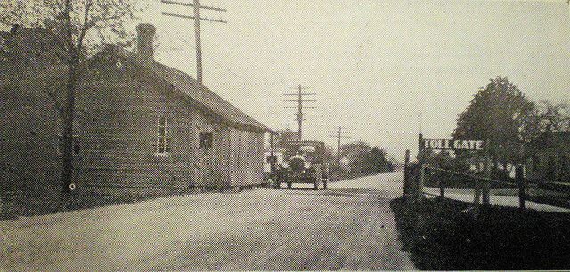 The last toll gate in Ontario. Located at the '5 corners' in Mitton village where Wellington, Mitton, and Ontario Sts. meet. This road was originally laid down to transport oil from Oil Springs and Petrolia to Sarnia for export. It remained a toll road until the 1920's. There is a historic plaque affixed to the building on the southwest corner of Wellington and Mitton Sts.