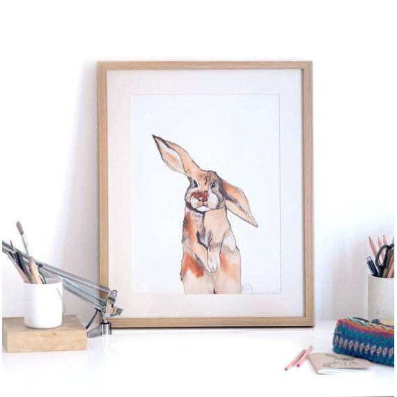 Bunny Rabbit Illustration Print