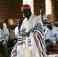 Jews of Uganda Abayudaya men in prayer.