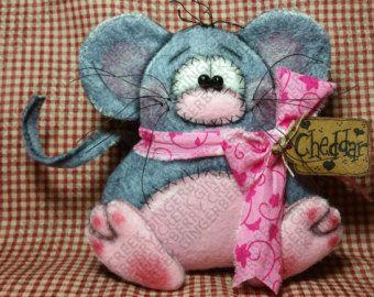 Cacahuete elefante y ratón Pip patrón 211 por GingerberryCreek