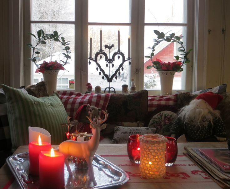 Christmasday , varm and cosy inside -20c outside !