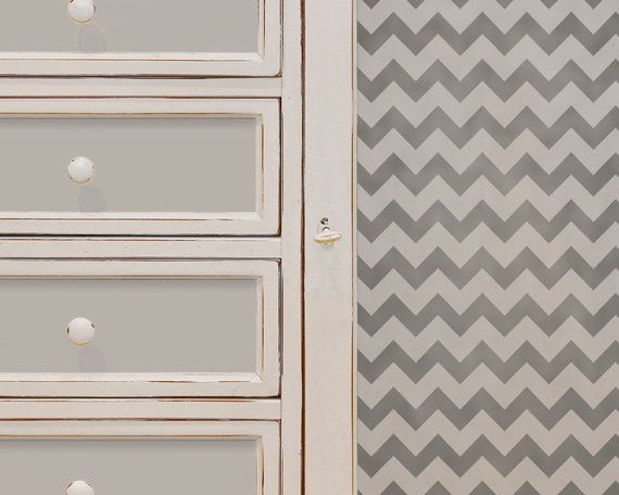 Chevron Stripe Wall and Furniture Stencil by royaldesignstencils, $18.00