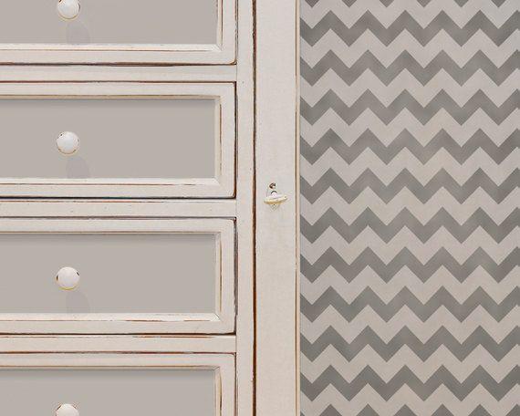 Chevron Stripe Wall and Furniture Stencil by royaldesignstencils