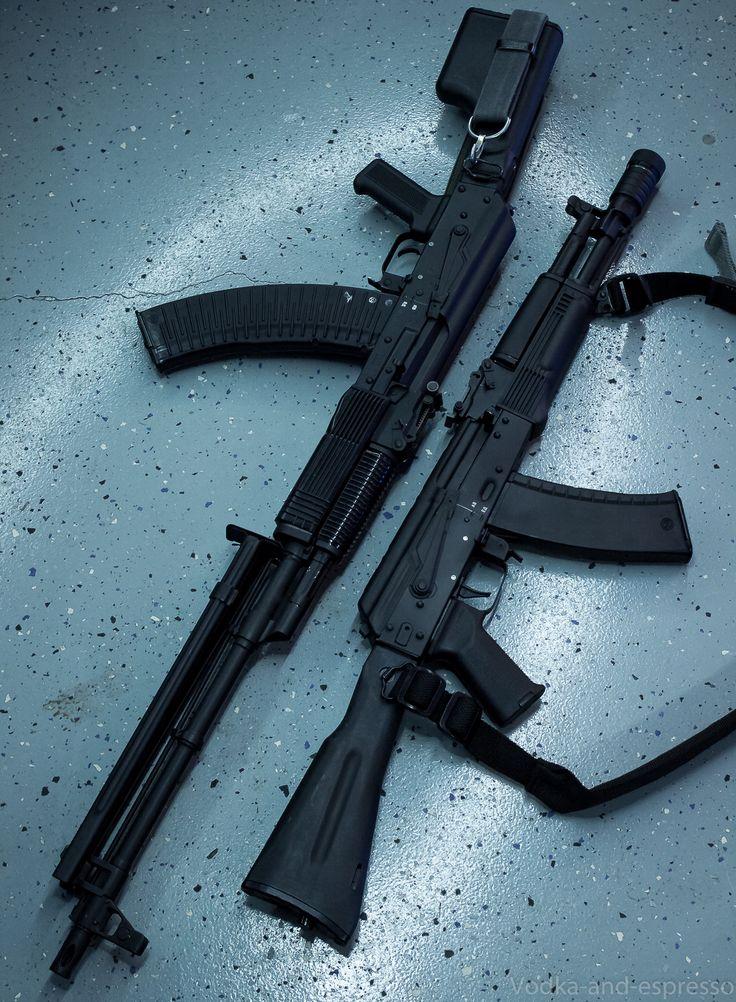 """whiskey-gunpowder: """" RPK-74m & AK-105 """""""