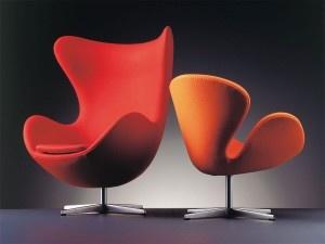 Red And Orange Modern Furniture Design.