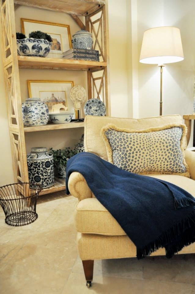 Blue And White Living Room Vignette As Seen In Kelloggfurn Washington DC Shop