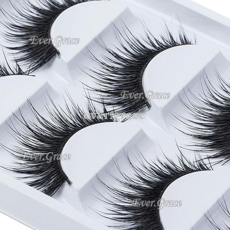 Fashion Long Thick Natural 5 Pairs Makeup False Eyelashes Eye Extension Eye Lash