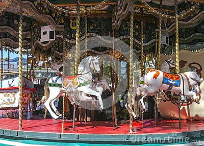 Carousel in Annecy . France.