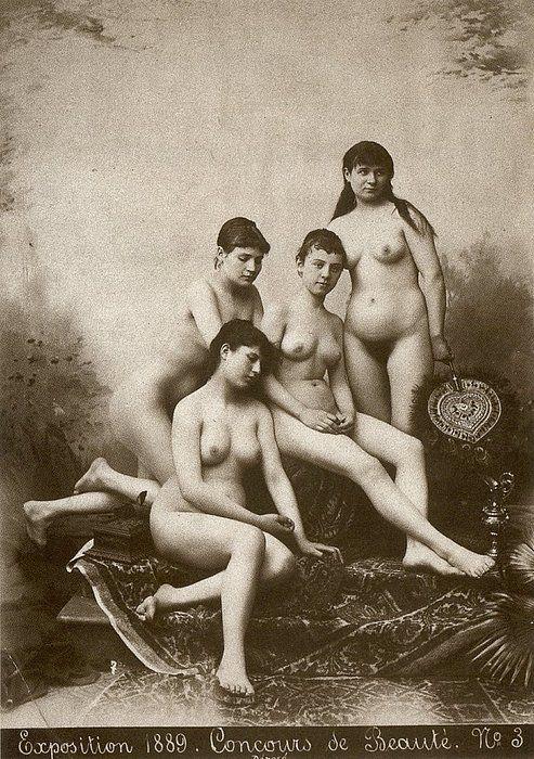 1889 Vintage nude women