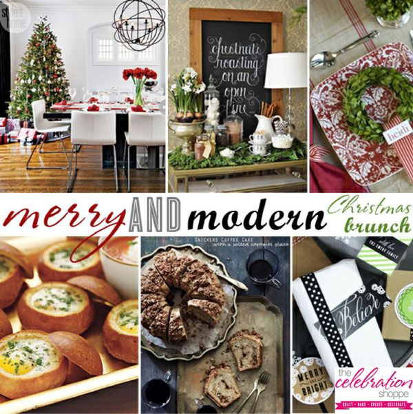 Bird's Party Blog: Christmas Party Ideas: 'Merry and Modern' Christmas Brunch by The Celebration Shoppe