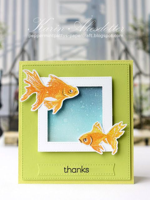Peppermint Patty's Papercraft: Hero Arts Layering Stamps: Goldfish