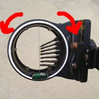 BOW SIGHT – ADJUSTING PINS, 2ND AXIS, AND 3RD AXIS