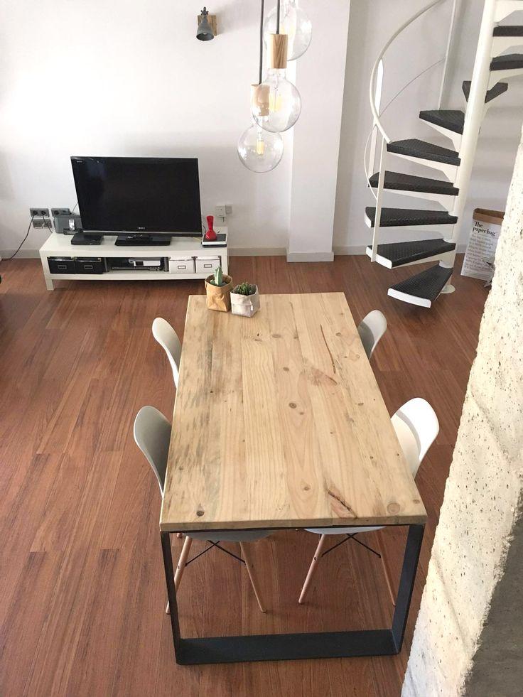 M s de 25 ideas fant sticas sobre muebles de madera de for Mesas puestas con estilo